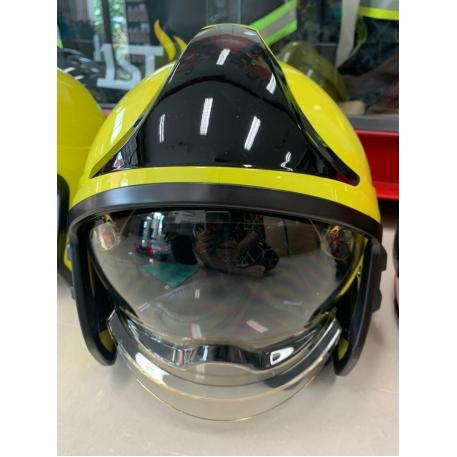 Casca pompieri cu vizor, ochelari rabatabili si guler nomex EN443 FKT