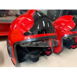 Casca pompieri cu vizor, ochelari rabatabili si guler nomex EN443 FKT RED