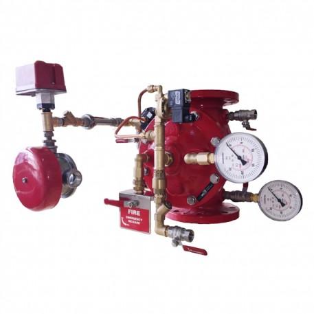 Vana de alarmare cu activare electrica pentru instalatia de drencere DN100 PN16