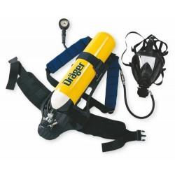 Aparat de respirat autonom cu aer comprimat pentru pompieri cu butelie 6L 300bari DRAGER