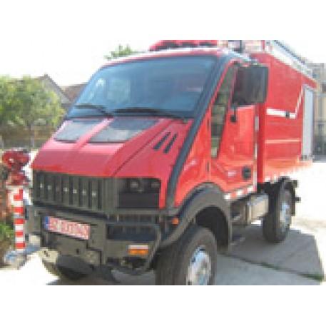 Autospeciala pompieri noua cu apa si spuma Rosting2000