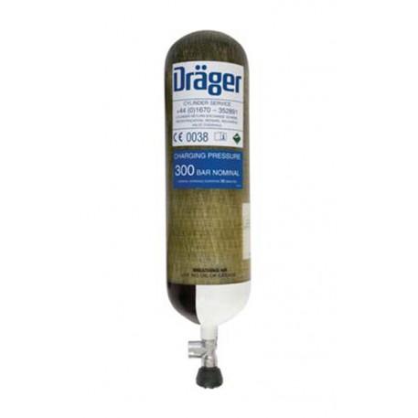 Butelie aer comprimat 6.8 L din material compozit cu fibre de carbon la 300 bari DRAGER, LUXFER, SIGMA