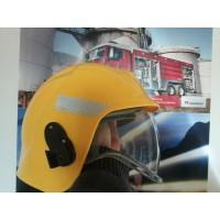 Casca pompieri cu vizor si guler Nomex EN443