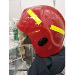 Casca pompieri cu vizor si guler Nomex RED