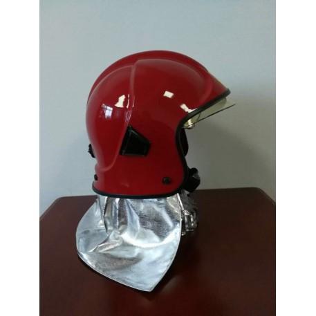Casca pompieri cu vizor, ochelari rabatabili si guler aluminizat EN443 F301