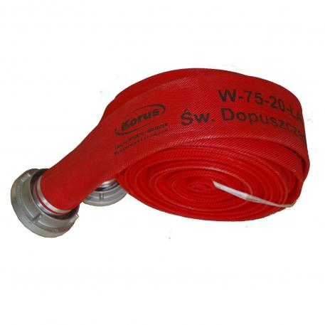 Furtun autospeciale pompieri 20 bar tip C 20m cu racorduri aluminiu omologat IGSU OMAI 88/2012