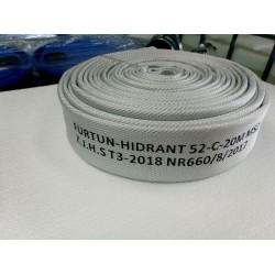 Furtun hidrant tip C 52mm 15bar 20m cu racorduri legate mansonate omologat IGSU EN671-2 EN 14540 OMAI 88/2012